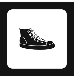 Sneakers icon simple style vector image vector image