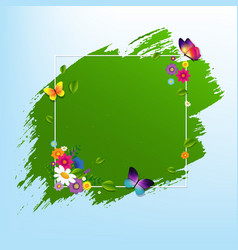 spring banner with flower vector image vector image