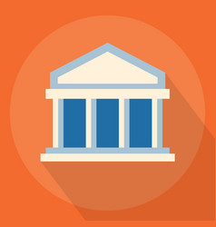 university or bank vector image