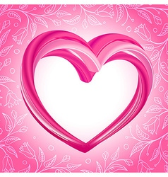 Valentines background abstract pink heart shape vector