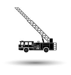fire service truck icon vector image