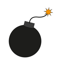 Color image cartoon boom ready to explode vector