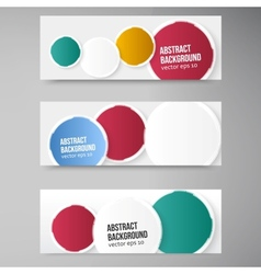 banner background White circle and set vector image