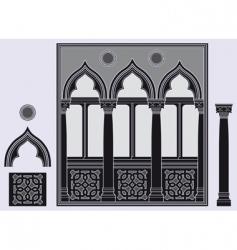 Three light window vector