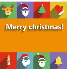 Santa claus and christmas New Year flat design vector image