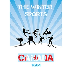 The winter sports canada team vector