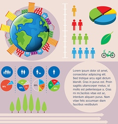 World and people infographic vector