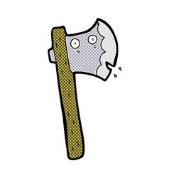 Comic cartoon axe vector