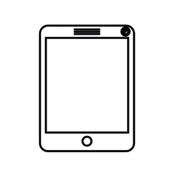 Tablet computer isolated icon design vector