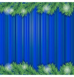 background with christmas tree branch vector image
