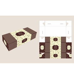 Beautiful rectangle cake box vector