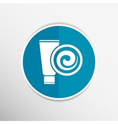 Blue Long Clean Tube Of Cream Version vector image vector image