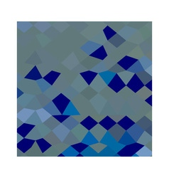 Blue pigment abstract low polygon background vector