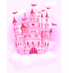 Castle in the sky vector