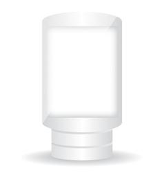 City light white billboard on white background vector image vector image