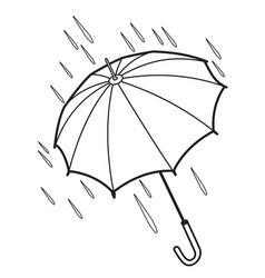 contour of the umbrella vector image vector image
