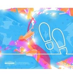 Creative footprint art vector
