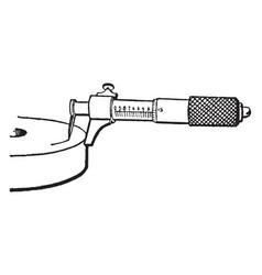 Depth micrometer vintage vector
