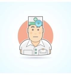 Doctor physician icon vector image vector image
