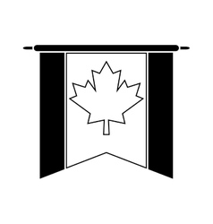 Flag pennant canadian pictogram vector