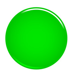 Green circle button blank web internet icon vector