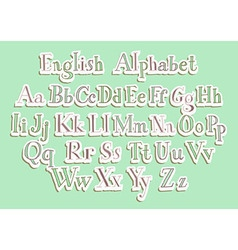 Hand cut alphabet vector image vector image