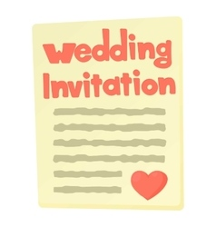 Invitation icon cartoon style vector image