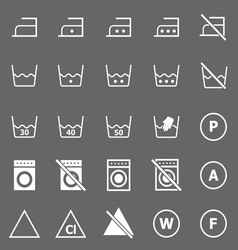 Laundry icons on gray background vector image