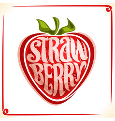 logo for strawberry vector image vector image