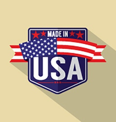 Made in usa single badge vector