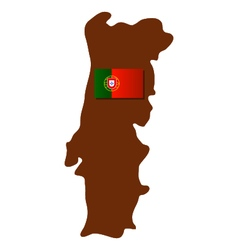 map of portugal with flag vector image