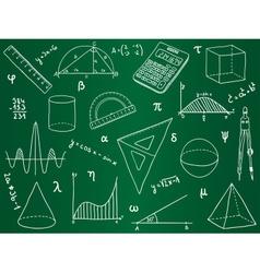 Mathematics - school supplies geometric shapes an vector