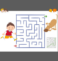 maze leisure activity game vector image vector image