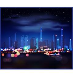 Night industrial landscape vector image vector image