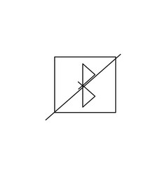 No bluetooth line icon on white background vector