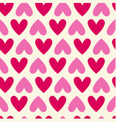 seamless colorful hearts pattern bright valentines vector image vector image