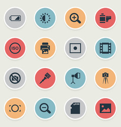 set of simple photographic vector image vector image