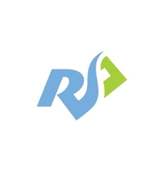 Sign of the letter R and S vector image vector image