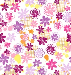 skribbled flowers vector image