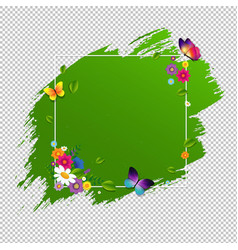 Spring banner with flower isolated vector