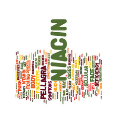 The niacin rush text background word cloud concept vector