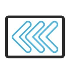 Triple pointer left framed icon vector