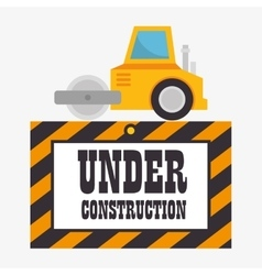 under construction machinery icon vector image vector image