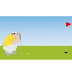 golf player 4 vector image