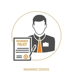 Insurance agent flat icon vector