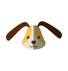 Cute head doggy funny expression shadow vector