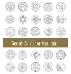 Set of mandala ornament for graphic design and vector