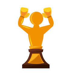 Boxing award gold isolated icon vector