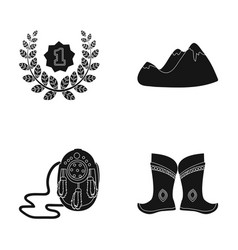 training travel and or web icon in black style vector image
