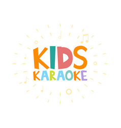 Kids karaoke party vector